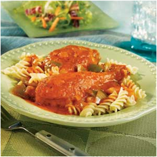 Saucy Chicken Vegetable & Pasta Recipe with V8 Juice