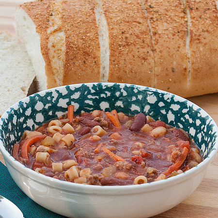 Laura Powell's Pasta E Fagioli Family recipe with V8