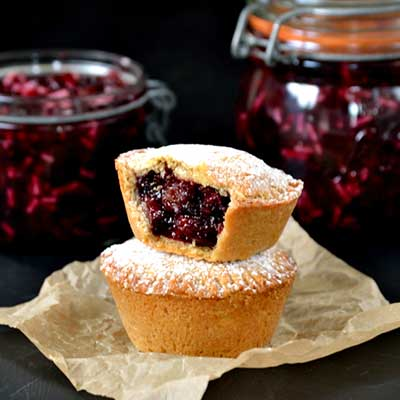 Fruity Beetroot Mince Pies made with V8 V Fusion