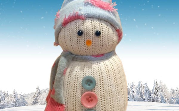 how to make snowman with socks