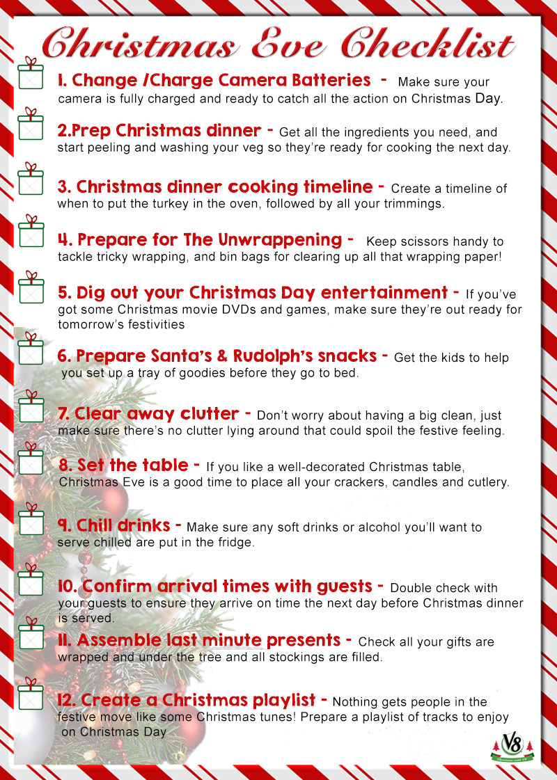 Good Our All New Christmas Eve Checklist Pertaining To Christmas Preparation Checklist