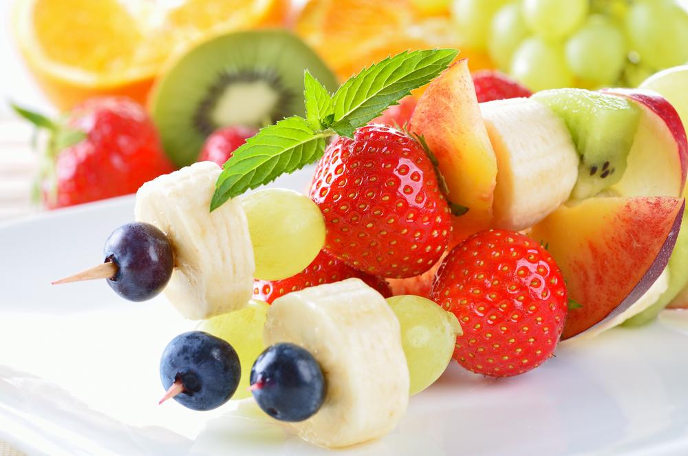 bbq fruit kebabas
