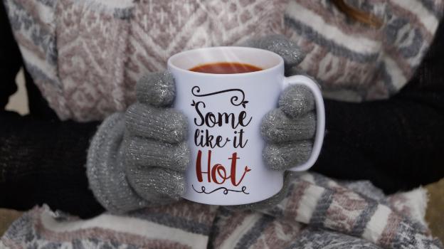 v8 hot in a mug