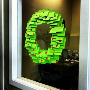 Post-it wreath