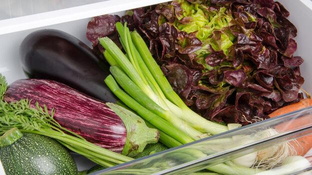 vegetables storage fridge