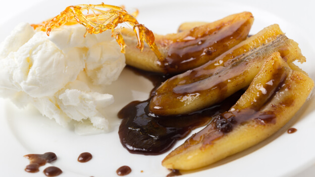 caramelised bananas