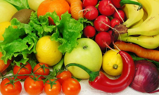 rainbow fruit and veg