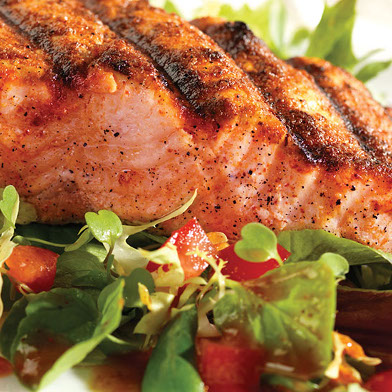 salmon with salad recipe