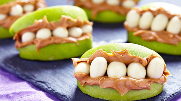 apple teeth halloween treats