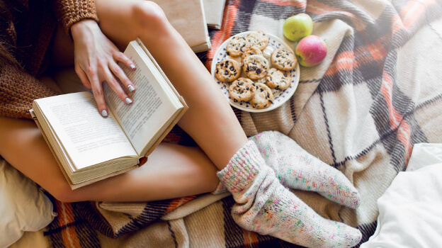 reading book hygge