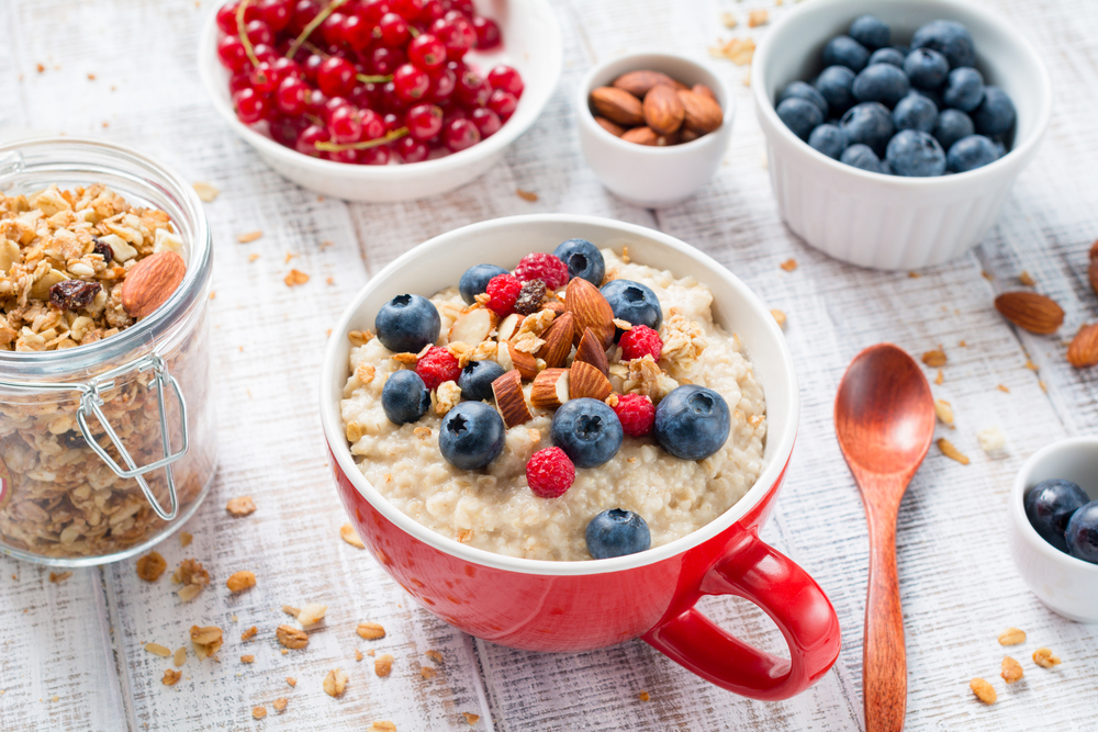 small healthy changes include fruity porridge