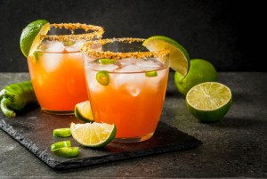Michelada Mexican tomato cocktail