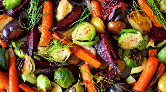 Full,Background,Of,Roasted,Colorful,Autumn,Vegetables,,Above,View