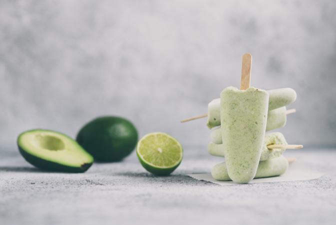 avocado ice lollies